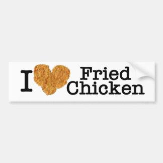 Amo el pollo frito pegatina para auto
