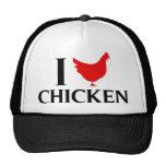 Amo el pollo gorras de camionero