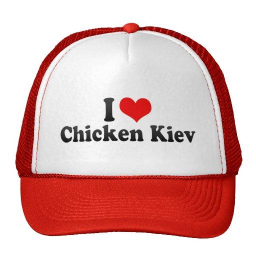 Amo el pollo Kiev Gorros Bordados