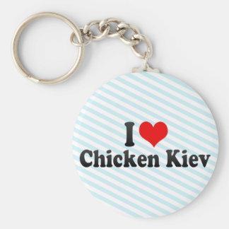 Amo el pollo Kiev Llaveros Personalizados
