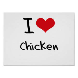 Amo el pollo poster