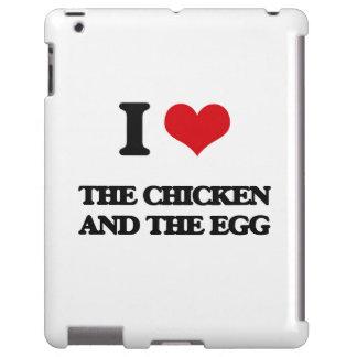 Amo el pollo y el huevo funda para iPad