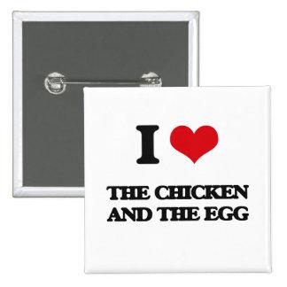 Amo el pollo y el huevo chapa cuadrada 5 cm