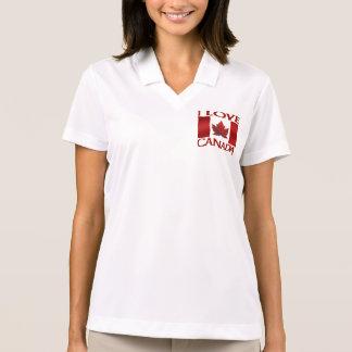 Amo el polo de Canadá de las mujeres de la camisa