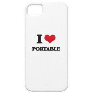 Amo el Portable iPhone 5 Funda