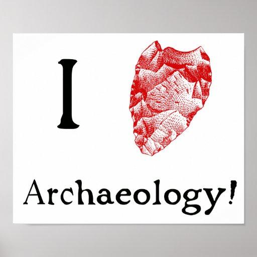 Amo el poster de la arqueología