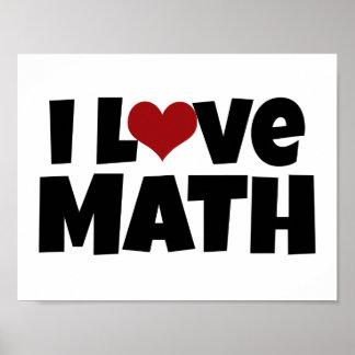Amo el poster de la matemáticas