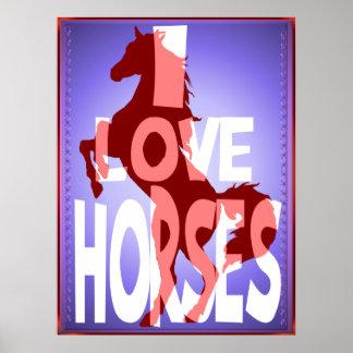 Amo el poster de los caballos