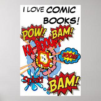 Amo el poster de los cómic póster