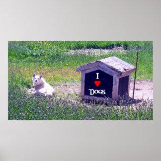 Amo el poster de los perros