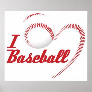 Amo el poster del béisbol póster