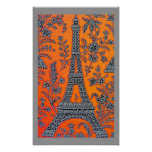 Amo el poster gris de la frontera de París pequeño