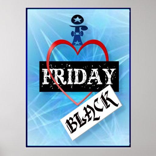 Amo el poster negro de viernes