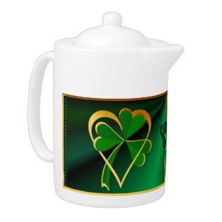 Amo el pote del té de St Patrick