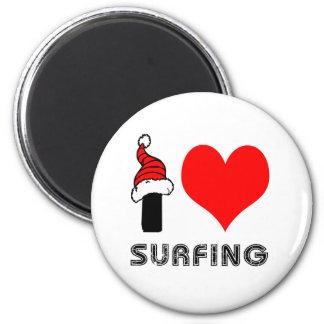Amo el practicar surf de diseño imanes