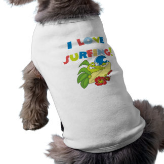 Amo el practicar surf de las camisetas y de los re camisetas de perro