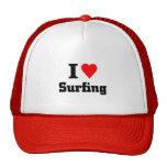 Amo el practicar surf gorra