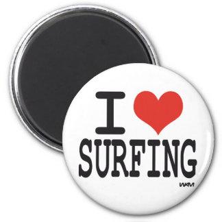 AMO EL PRACTICAR SURF IMÁN DE FRIGORÍFICO