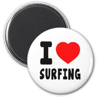 Amo el practicar surf imanes para frigoríficos