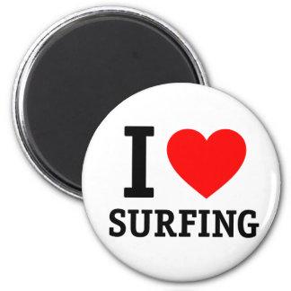 Amo el practicar surf iman de frigorífico
