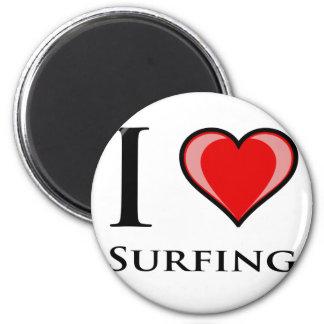 Amo el practicar surf iman para frigorífico