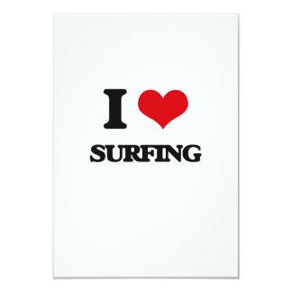 """Amo el practicar surf invitación 3.5"""" x 5"""""""