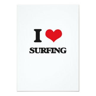 """Amo el practicar surf invitación 5"""" x 7"""""""