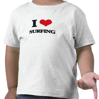 Amo el practicar surf camiseta
