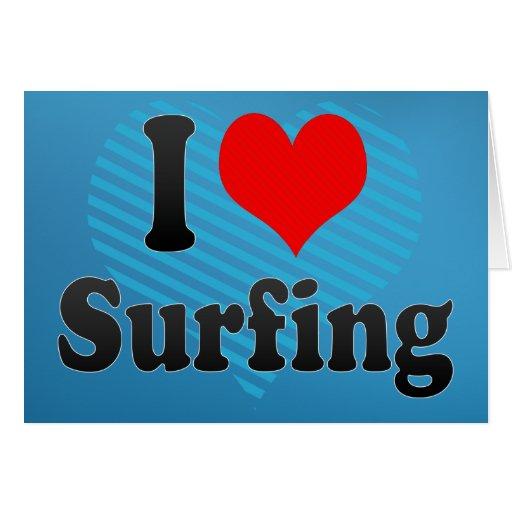Amo el practicar surf tarjetón