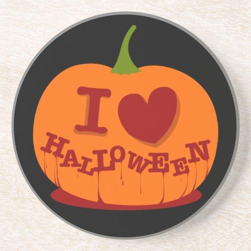 Amo el práctico de costa de Halloween Posavasos Manualidades