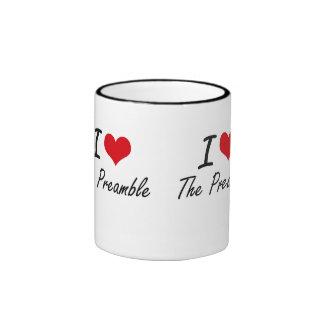 Amo el preámbulo taza de dos colores