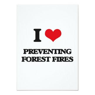 Amo el prevenir de los incendios forestales invitación 12,7 x 17,8 cm