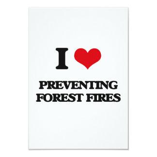 Amo el prevenir de los incendios forestales invitación 8,9 x 12,7 cm