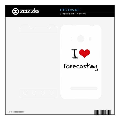 Amo el prever HTC evo 4G calcomanía