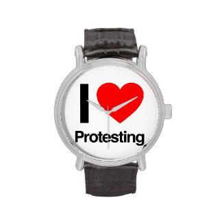 amo el protestar reloj