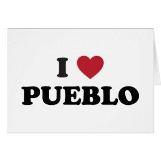Amo el pueblo Colorado Tarjeta De Felicitación