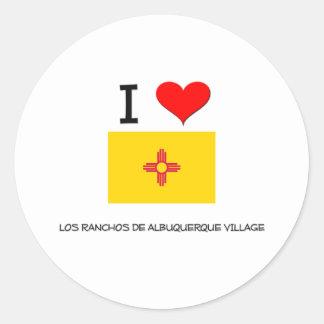 Amo el pueblo nuevo Mexi del De Albuquerque de los Pegatina Redonda