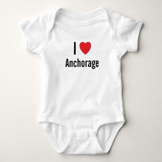 Amo el puente de bebé de Anchorage Playeras