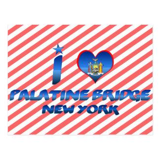 Amo el puente de Palatine, Nueva York Tarjeta Postal