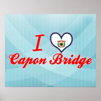 Amo el puente del capón, Virginia Occidental Impresiones