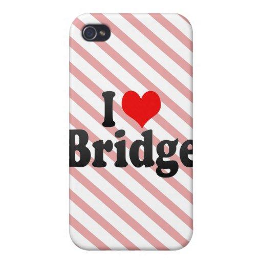 Amo el puente iPhone 4/4S fundas