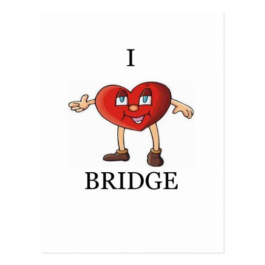 amo el puente tarjeta postal