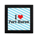 Amo el puerto Huron, Estados Unidos Caja De Joyas