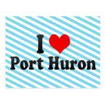 Amo el puerto Huron, Estados Unidos Tarjetas Postales