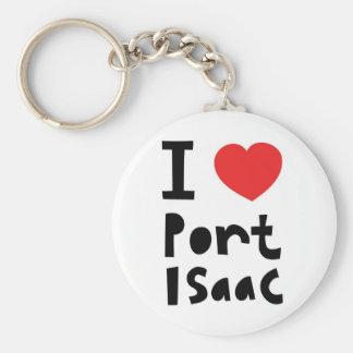 Amo el puerto Isaac Llavero Redondo Tipo Pin