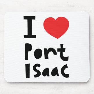 Amo el puerto Isaac Alfombrillas De Raton