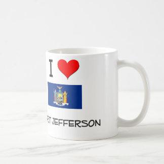 Amo el puerto Jefferson Nueva York Tazas De Café