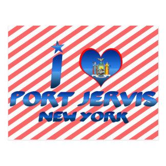 Amo el puerto Jervis Nueva York Postales