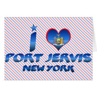 Amo el puerto Jervis Nueva York Tarjeton