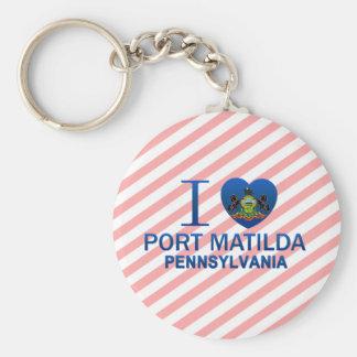 Amo el puerto Matilda, PA Llavero Personalizado